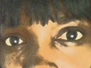 Ebony Goddess Desire's eyes